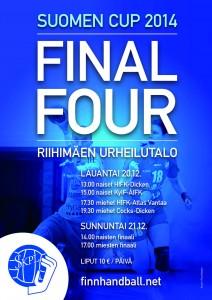 Suomen cupin Final4 20.-21.12 Riihimäellä